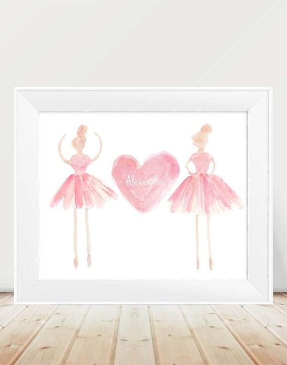 Personalized Blush Ballet Print, 11x14