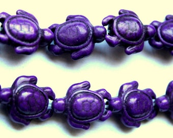 Purple Cute Turtle Beads