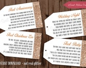 INSTANT DOWNLOAD - 1st Milestone Wine Poem Tags Rose Gold Bridal Showers / Bachelorette Party / Wine  Baskets Sweet Melissa Creations
