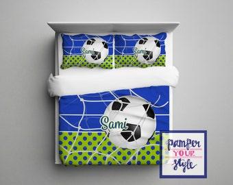 Custom Soccer Comforter or Duvet Soccer Bedding Customized
