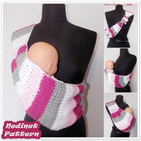 Crochet Pattern Crochet Baby Sling Pattern Crochet Baby