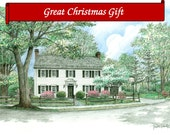 Custom Home Portrait-99&up 5x7 Full Color Original Your My Home Sketch Drawing Christmas Birthday First Home Anniv Wedd Closing Gifts