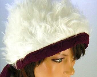 double hat faux fur