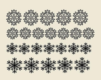 Snowflakes (quantity of 24)Vinyl Wall Decal/Stickers/Wall Accents for  Nursery Vinyl Wall Decal-Girls Room Wall Decor-Vinyl Lettering