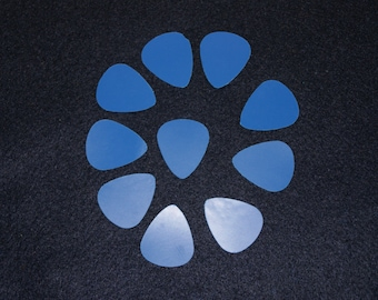 Lot Of 10 Thin Gauge Upcycled Plastic Teardrop Shaped Guitar picks From Wisdom Lane
