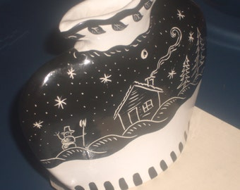 Vintage BLACK and WHITE POTTERY