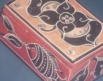 Vintage Soapstone Box from Kenya