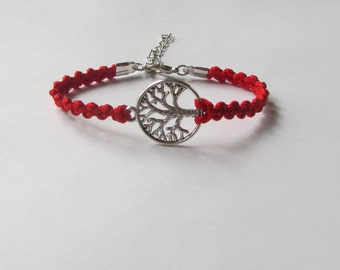 Silver Tree of Life Bracelet - Red Tree of Life Bracelet - 13 Colors Available- Friendship Bracelet - Gift