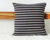 Black Striped Pillow cover, Block Print Pillow cover, throw pillow, geometric Print pillow cover