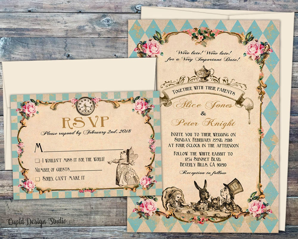 Printed Wedding Invitations: Fairytale Wedding Invitations Printed Wedding Invitation Set