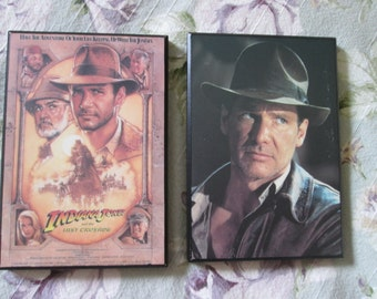 2 laminated frames Indiana Jones