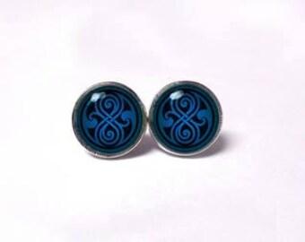 Seal of Rassilon Earrings - Doctor Who earrings
