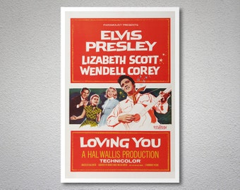 Loving You, Elvis Presley Movie Poster - Poster Paper, Sticker or Canvas Print
