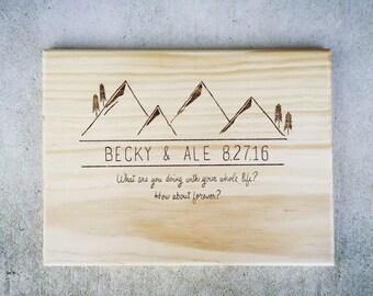 Custom Wedding Cutting Board