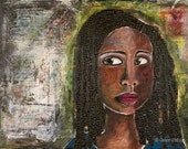 African American Woman 18 x 24 inch Giclée-- Expecting Grace
