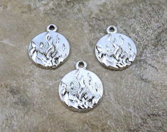 Set of 3 Pewter Fire Charms (4 Elements) -  0019