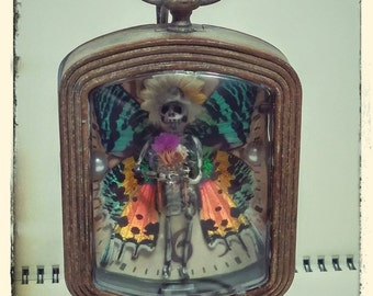 Fairy In A Clock - Alexis (Made with Real Wings)