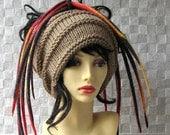 Dread Tube Dredlocks Accessories Dread Hat Camel  Dreadlock tube hat, dreadlock headband, Tam Hat wide hair wrap, handmade
