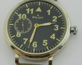 USSR Russian watch Molnija Molnia Pilot Aviator #733S