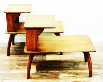 SOLD*Vintage Wooden Danish Side Tables