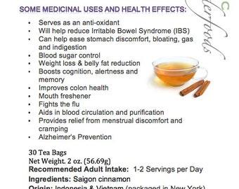 Simply Natural 100% Organic Cinnamon Herbal Tea – 30 Bags