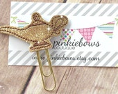 Gold/Brown/Genie Bottle/Sparkle Applique Paper Clip/Bookmark/Journal Marker/Planner Clip