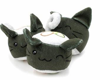 Sushi Cat Stuffed Animal, Cat Plushie, Plush Toy, Food Plush, Custom Printed