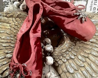 The Red Shoes....Vintage Ballet Pointe Shoes