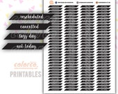 Rescheduled Cancelled Lazy day Not today Printable Planner Stickers Erin Condren Happy Planner Inkwell Plum Paper Instant Digital Download