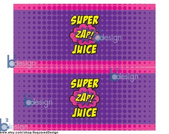 Superhero Juice Box Wrappers • GV1 • Instant Download