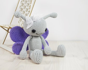 SALE -50% | Butterfly - Small crocheted toy butterfly