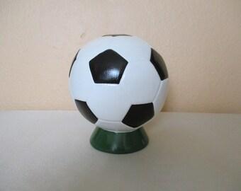 Ceramic Soccer Ball Bank