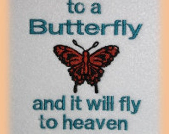 Butterfly Heaven Message Machine Embroidery Design