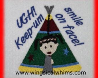 Keep Um Smile Design Digitized Machine Embroidery  saying