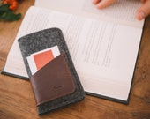 """iPhone 6S Case, iPhone 6S Sleeve, iPhone 6S Pouch, suits iPhone 6, """"Geometry"""" - leather, wool felt"""