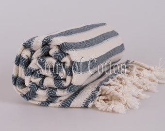 Extra HIGH Quality Hamam towel beach towel hammam peshtemal Turkish Towel ZEBRA Denim