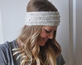 Oatmeal Cream Crochet Earwarmer Headwrap
