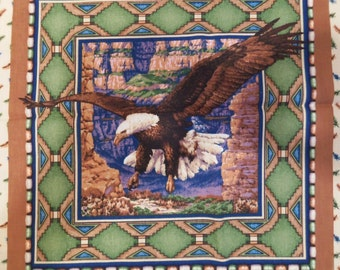 Eagle Pillow Panels Set of 4 Blocks