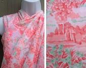 Vintage fabric | Destash sale soft pink toile print cotton