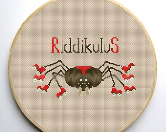 Riddikulus - Harry Potter Cross stitch pattern PDF Instant Download