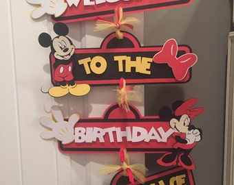 Mickey birthday door sign