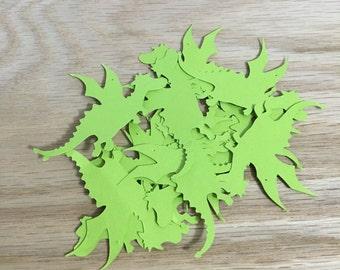 dragon cutouts, dragon party, party decoration, garland, confetti, dragon mobile, dragon die cut, girl boy birthday, puff the magic dragon