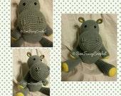 Hippo, Stuffed Hippo, Crochet Hippo, Stuffed Animal, Crochet Stuffed Animal, Crochet Stuffed Hippo, Hippo Toy, Stuffed Toy, Safari, Toy