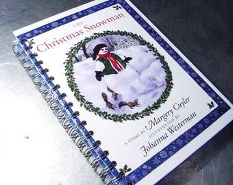 JOURNAL CHRISTMAS SNOWMAN Scrap Memory Vintage Book