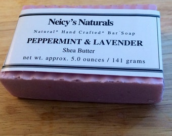 Peppermint Lavender Shea Butter Soap Bar