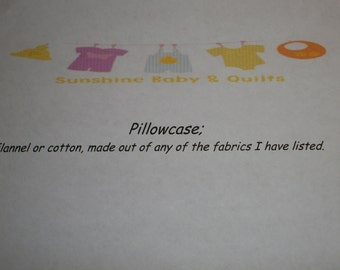 """Standard size pillowcase, 20"""" x 30"""" from any of my fabrics"""