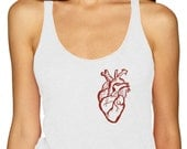 Anatomical Heart Shirt, Heart Tank Top, Anatomical Heart, Level Apparel, sale