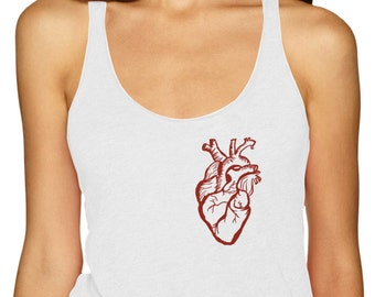 Anatomical Heart Shirt, Heart Tank Top, Anatomical Heart, Level Apparel, sale