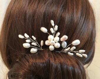 Pearl hair accessories, wedding hair pins, hair accessory bridal, hair pin bridal, wedding hair accessories, flower headpiece x3, wedding