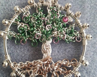 Chainmaille Blossom Tree Tutorial